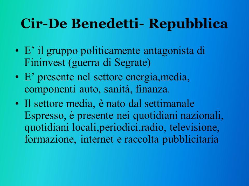 Cir-De Benedetti- Repubblica