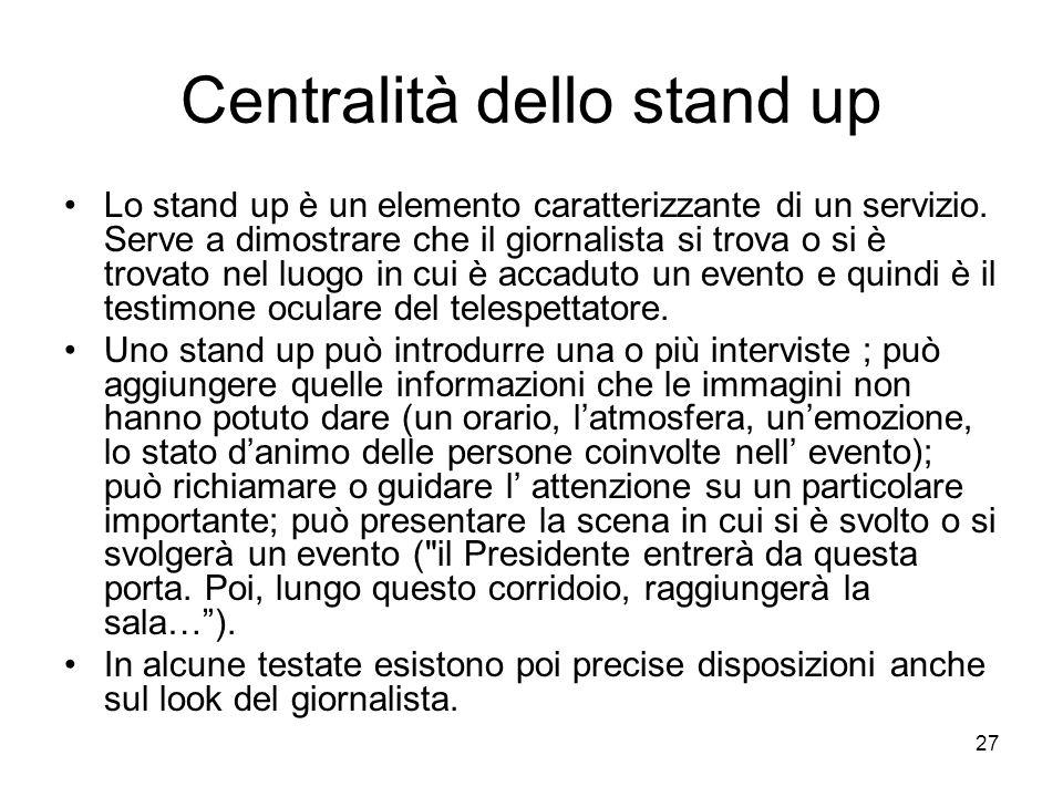 Centralità dello stand up