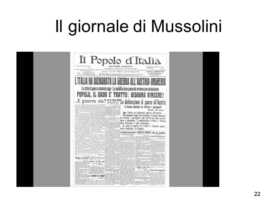 Il giornale di Mussolini