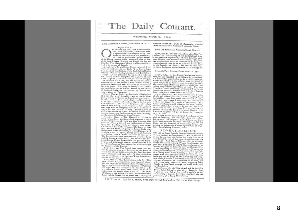 Daily courant 8