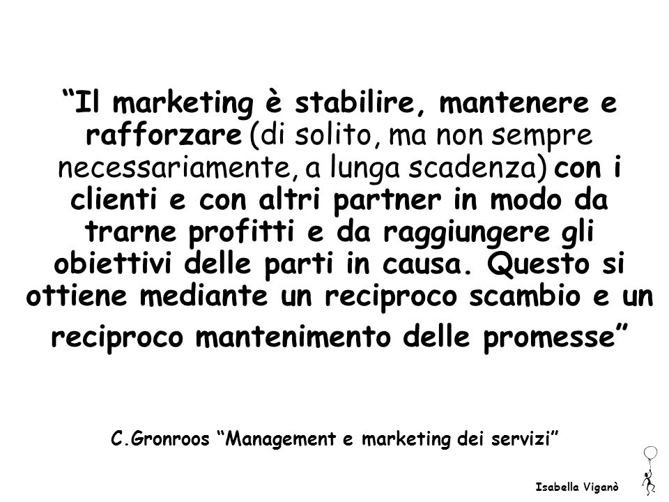 C.Gronroos Management e marketing dei servizi