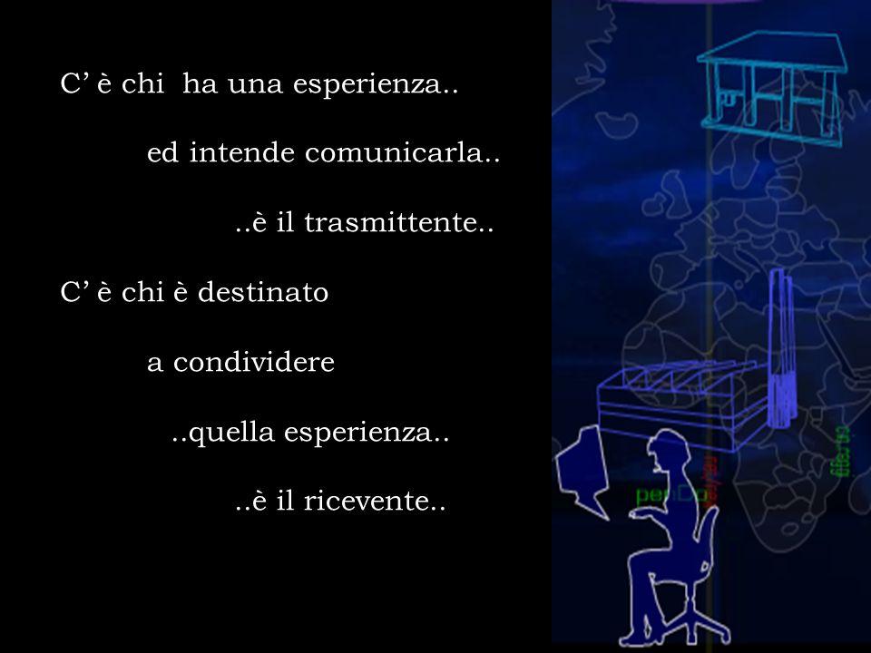 C' è chi ha una esperienza. ed intende comunicarla. è il trasmittente
