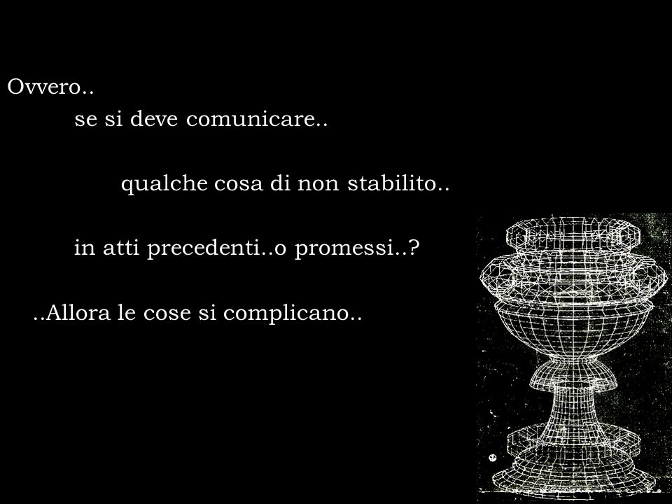Ovvero.. se si deve comunicare.. qualche cosa di non stabilito.. in atti precedenti..o promessi..