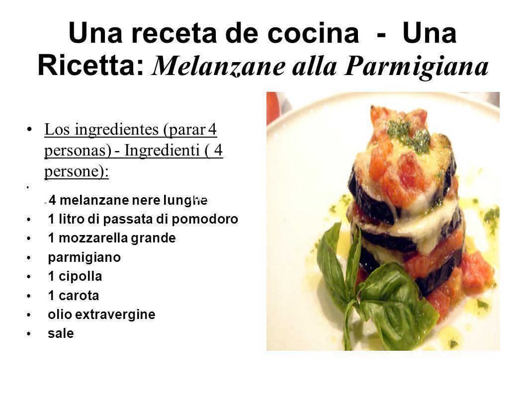 Una receta de cocina - Una Ricetta: Melanzane alla Parmigiana