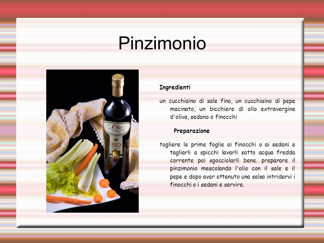 Pinzimonio Ingredienti