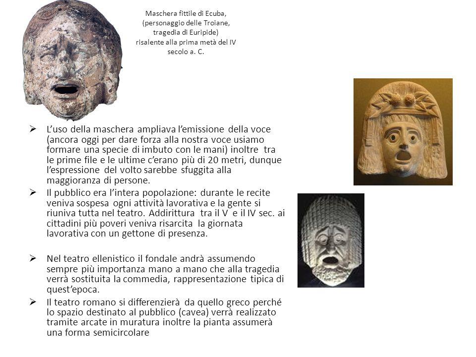 Maschera fittile di Ecuba, (personaggio delle Troiane, tragedia di Euripide) risalente alla prima metà del IV secolo a. C.