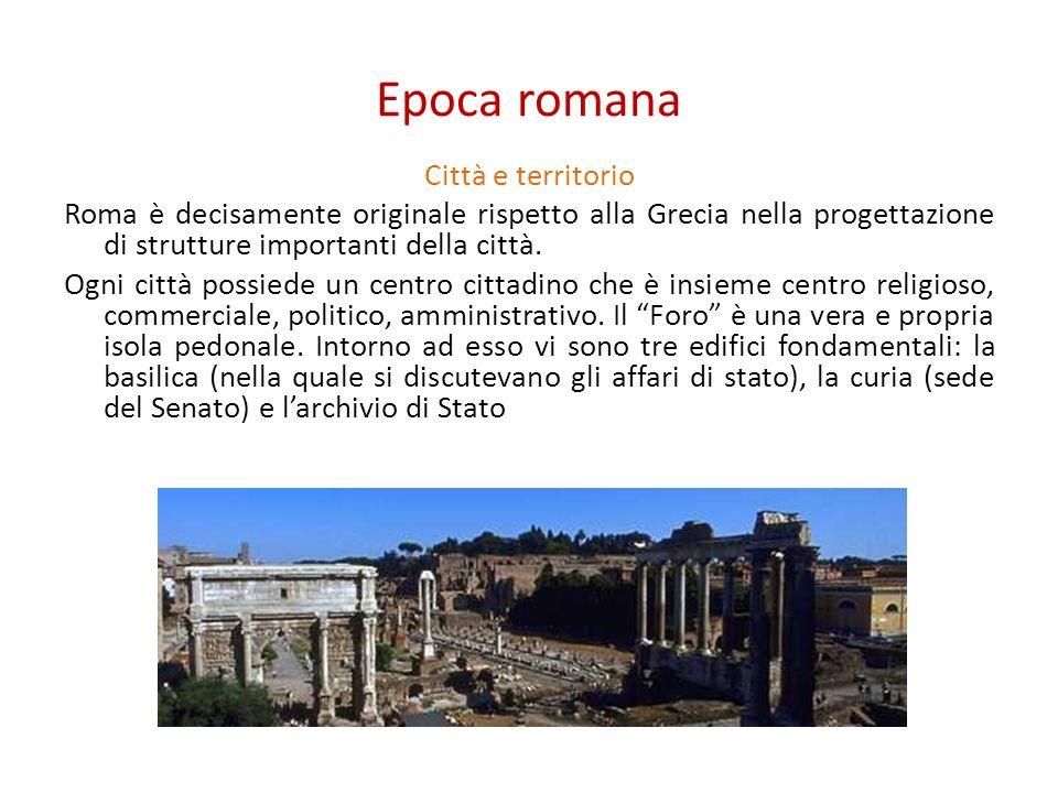Epoca romana Città e territorio