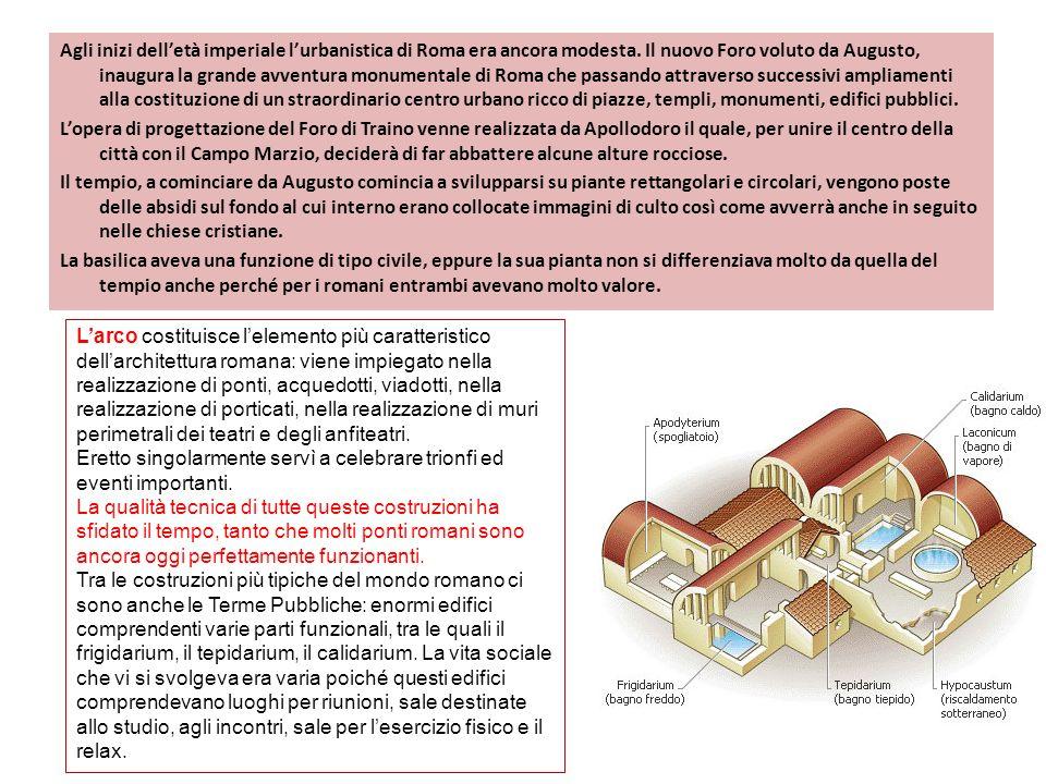Agli inizi dell'età imperiale l'urbanistica di Roma era ancora modesta