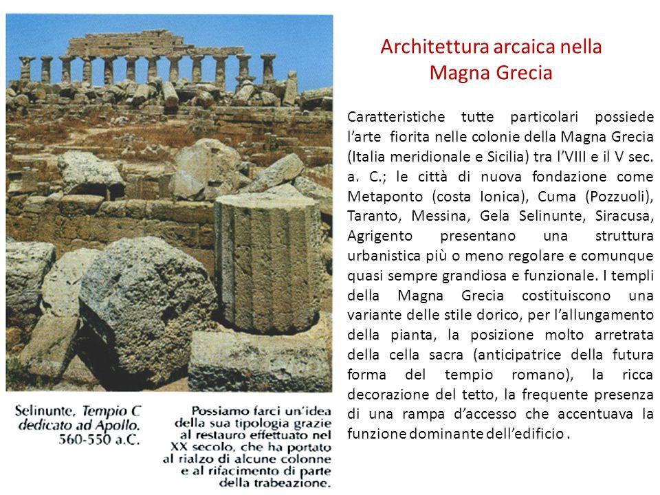 Architettura arcaica nella Magna Grecia