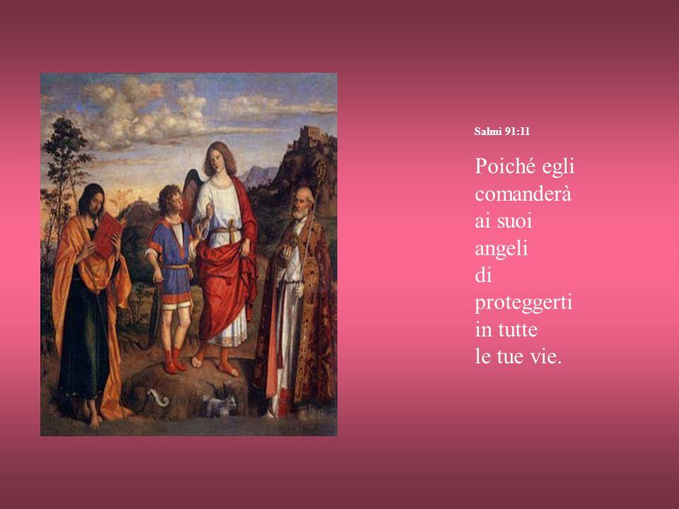 Salmi 91:11 Poiché egli comanderà ai suoi angeli di proteggerti in tutte le tue vie.