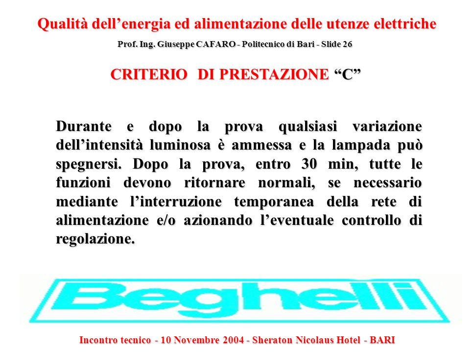 CRITERIO DI PRESTAZIONE C