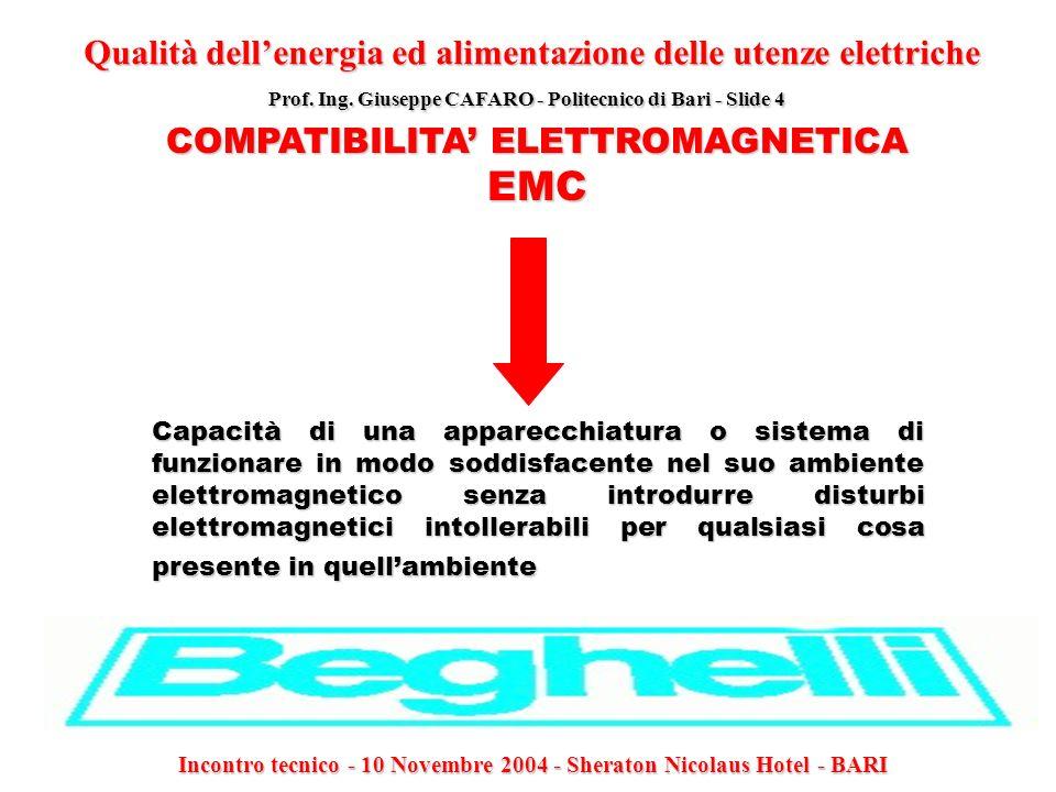 EMC Qualità dell'energia ed alimentazione delle utenze elettriche