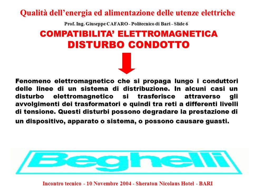 Qualità dell'energia ed alimentazione delle utenze elettriche
