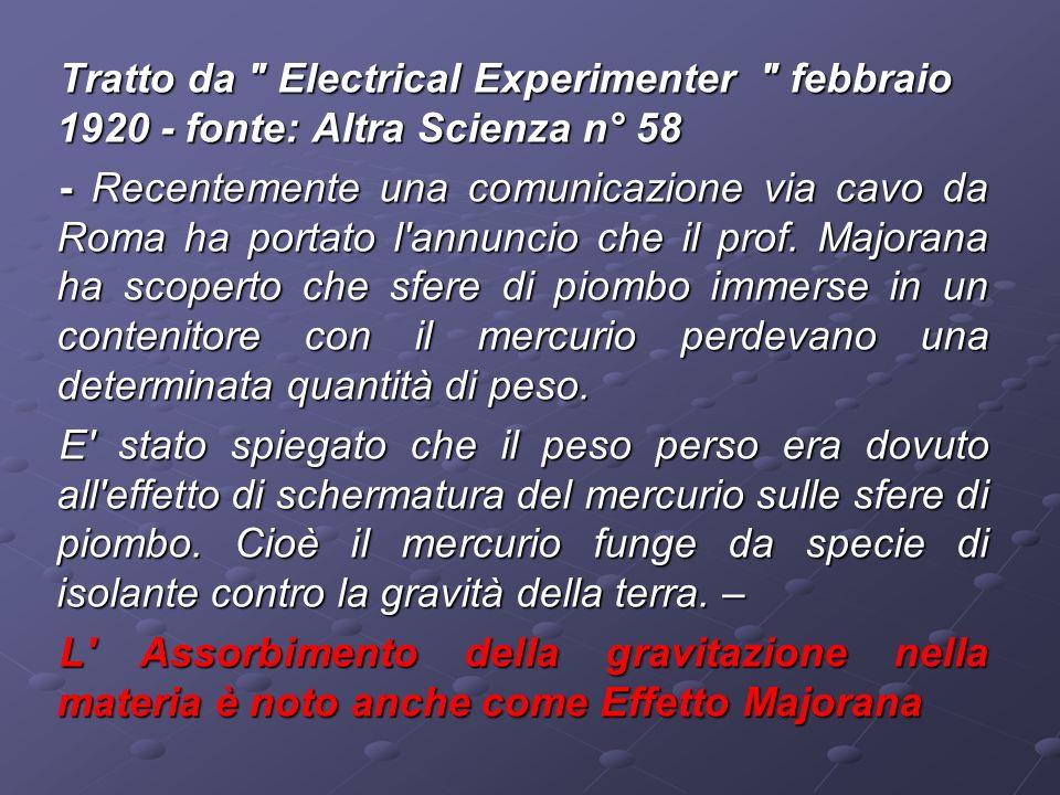 Tratto da Electrical Experimenter febbraio 1920 - fonte: Altra Scienza n° 58
