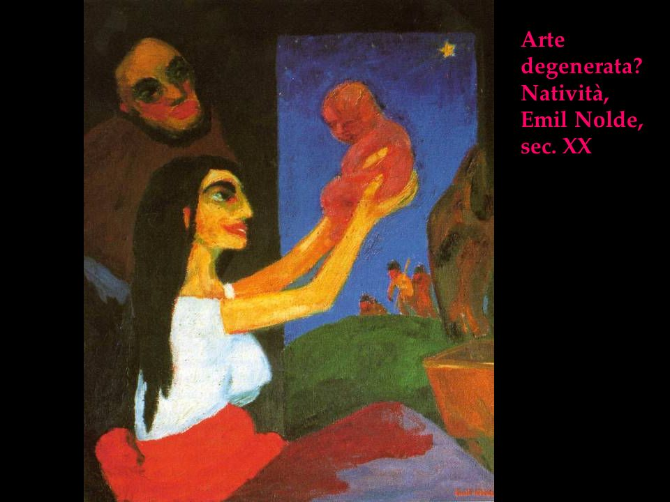 Arte degenerata Natività, Emil Nolde, sec. XX
