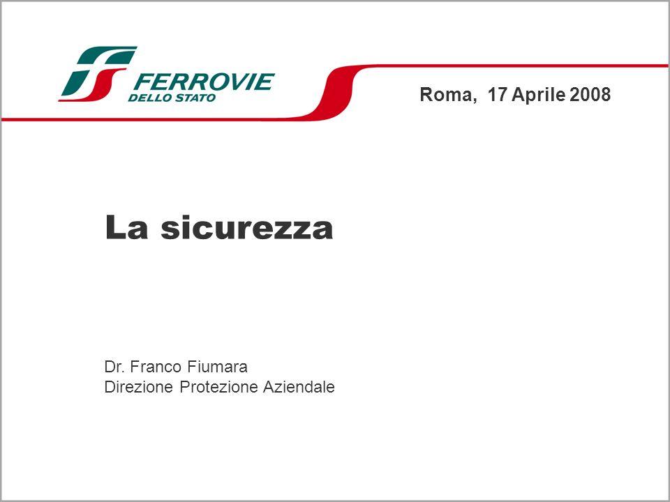 La sicurezza Roma, 17 Aprile 2008 Dr. Franco Fiumara