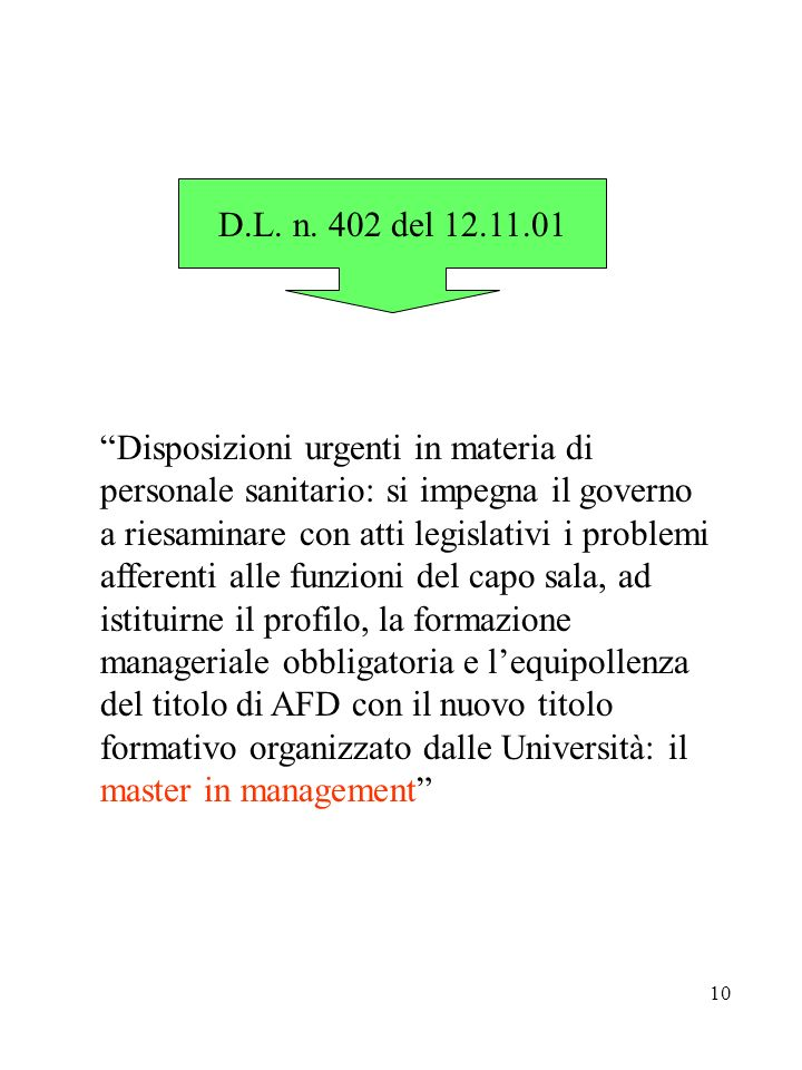 D.L. n. 402 del 12.11.01