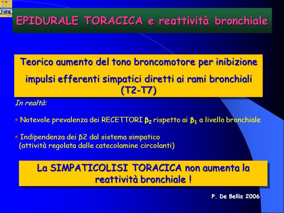 EPIDURALE TORACICA e reattività bronchiale