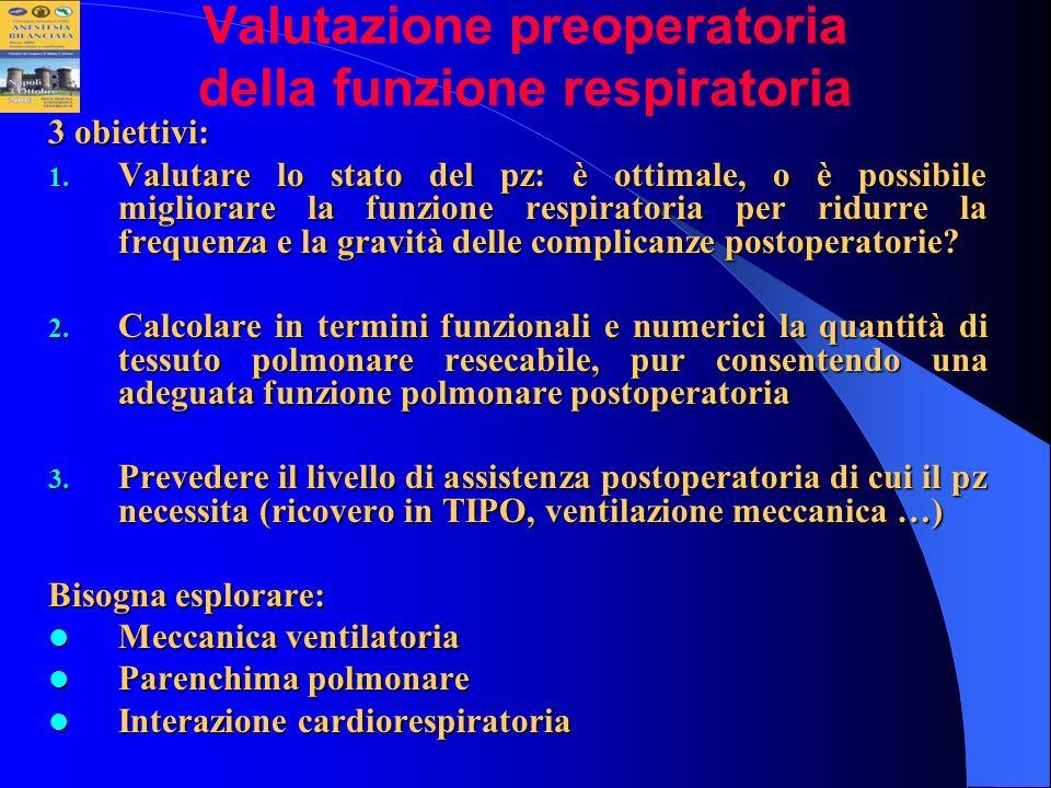 Valutazione preoperatoria della funzione respiratoria