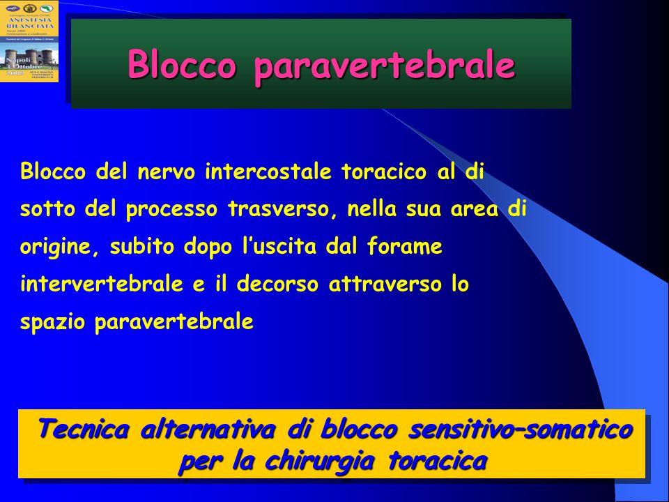 Blocco paravertebrale