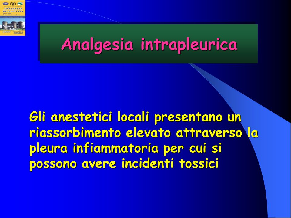 Analgesia intrapleurica