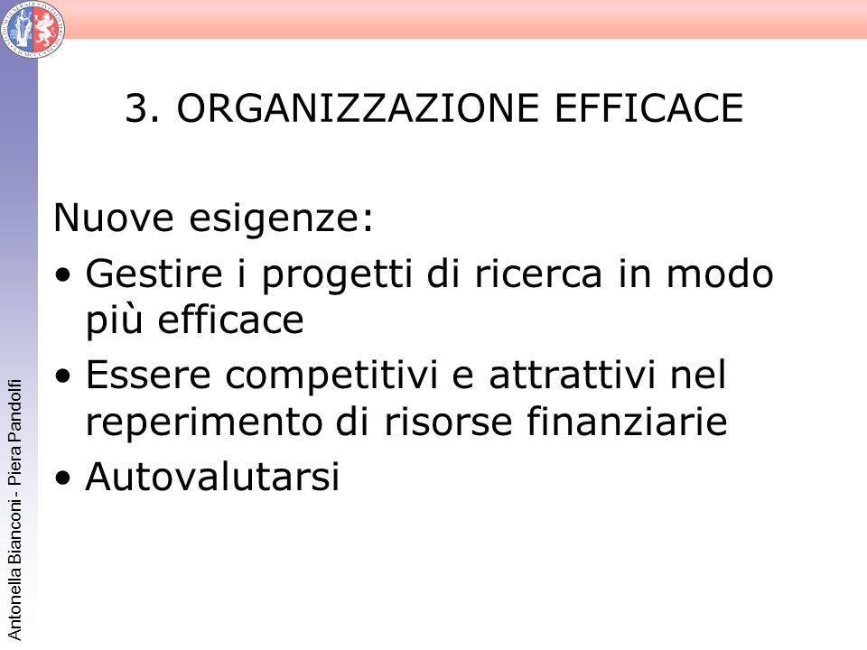 3. ORGANIZZAZIONE EFFICACE