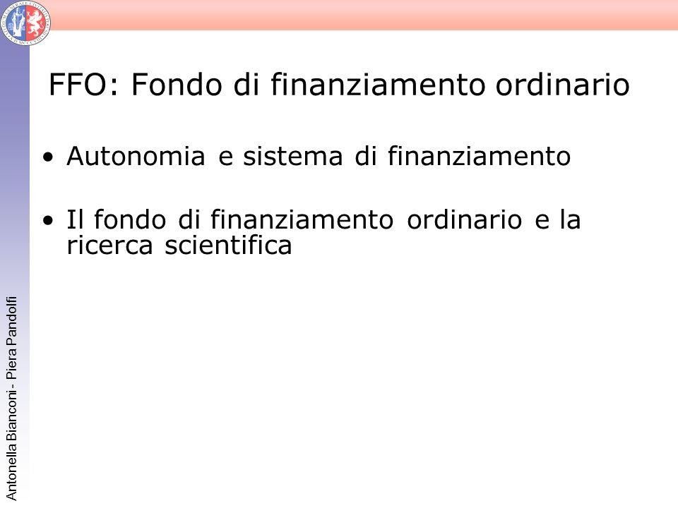 FFO: Fondo di finanziamento ordinario