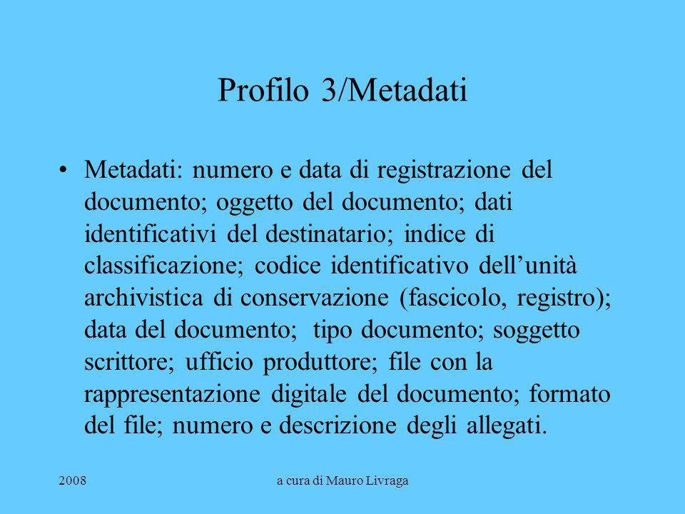 Profilo 3/Metadati