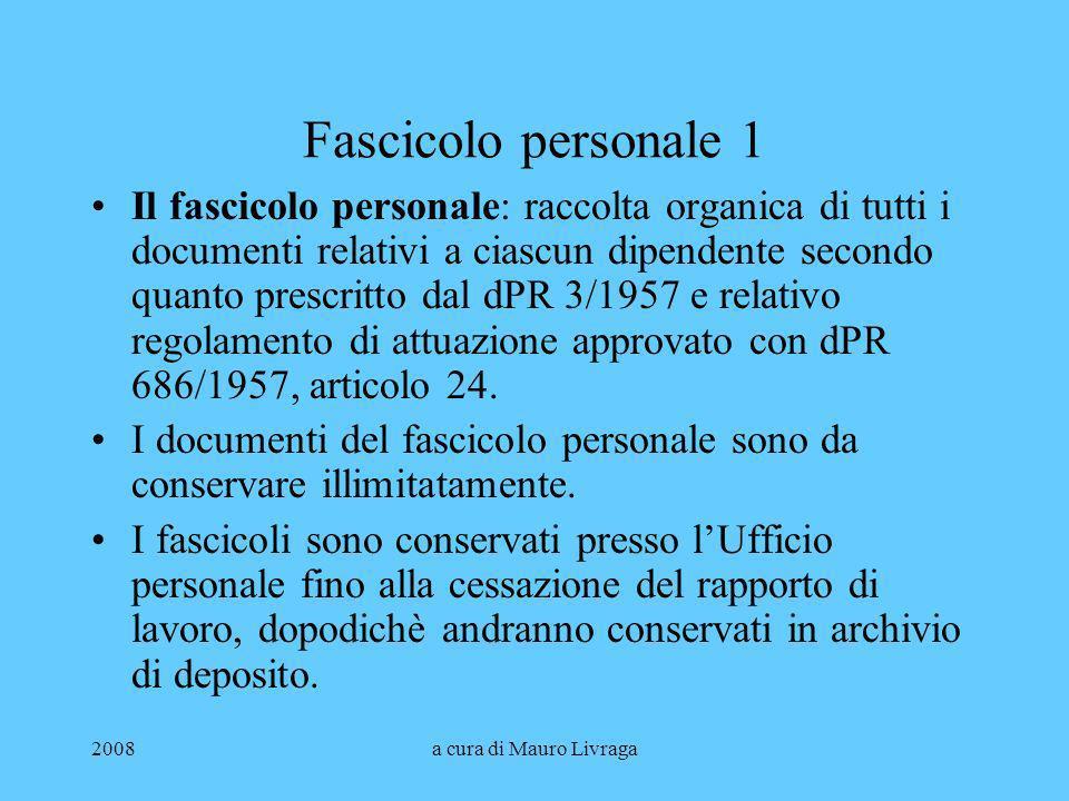 Fascicolo personale 1