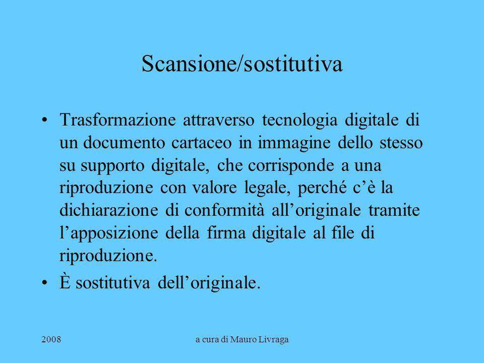 Scansione/sostitutiva