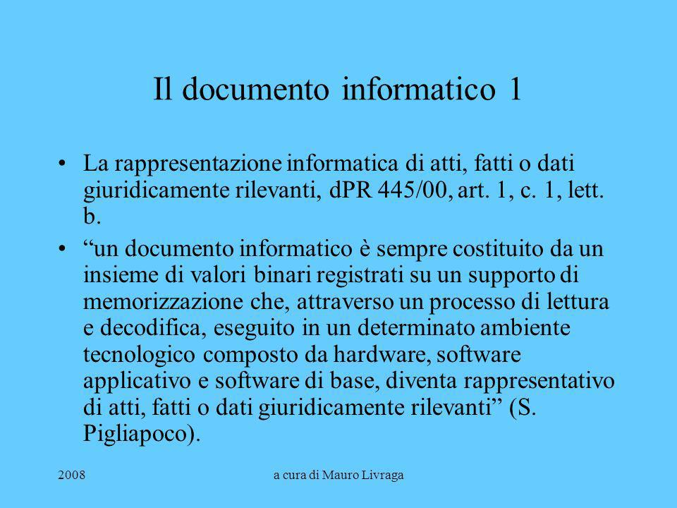Il documento informatico 1