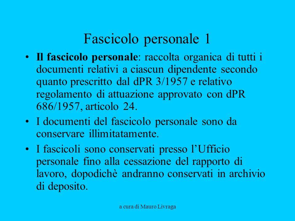 Aprile 2008 Fascicolo personale 1.