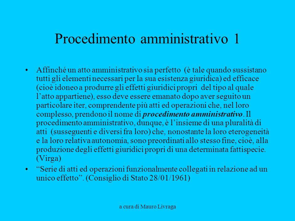 Procedimento amministrativo 1