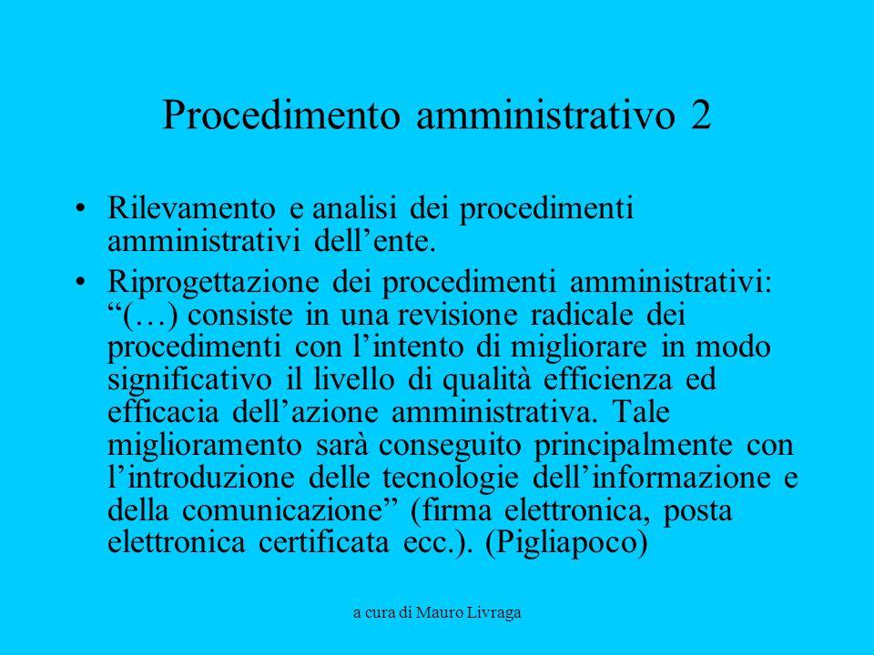 Procedimento amministrativo 2