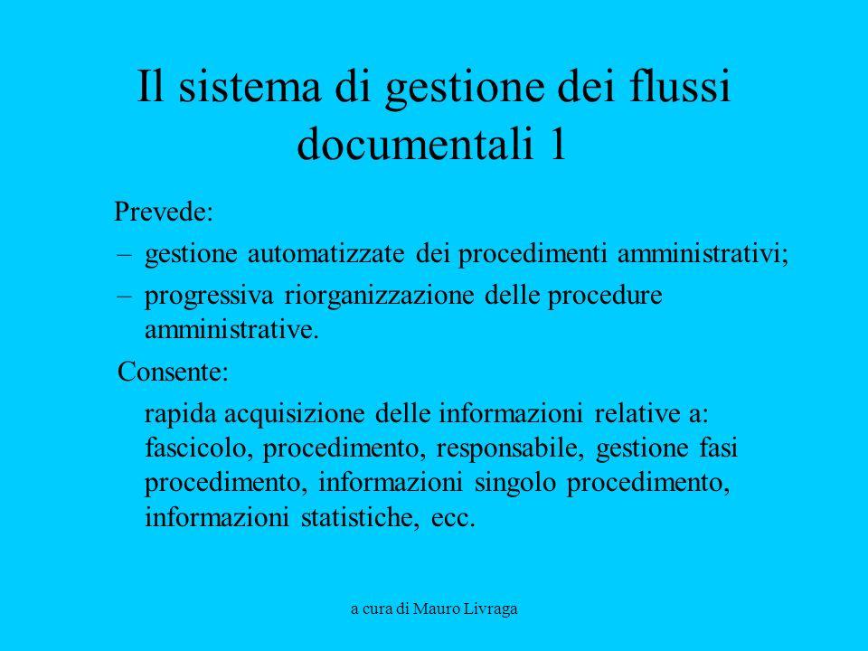 Il sistema di gestione dei flussi documentali 1