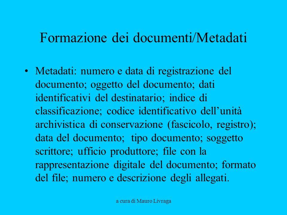 Formazione dei documenti/Metadati