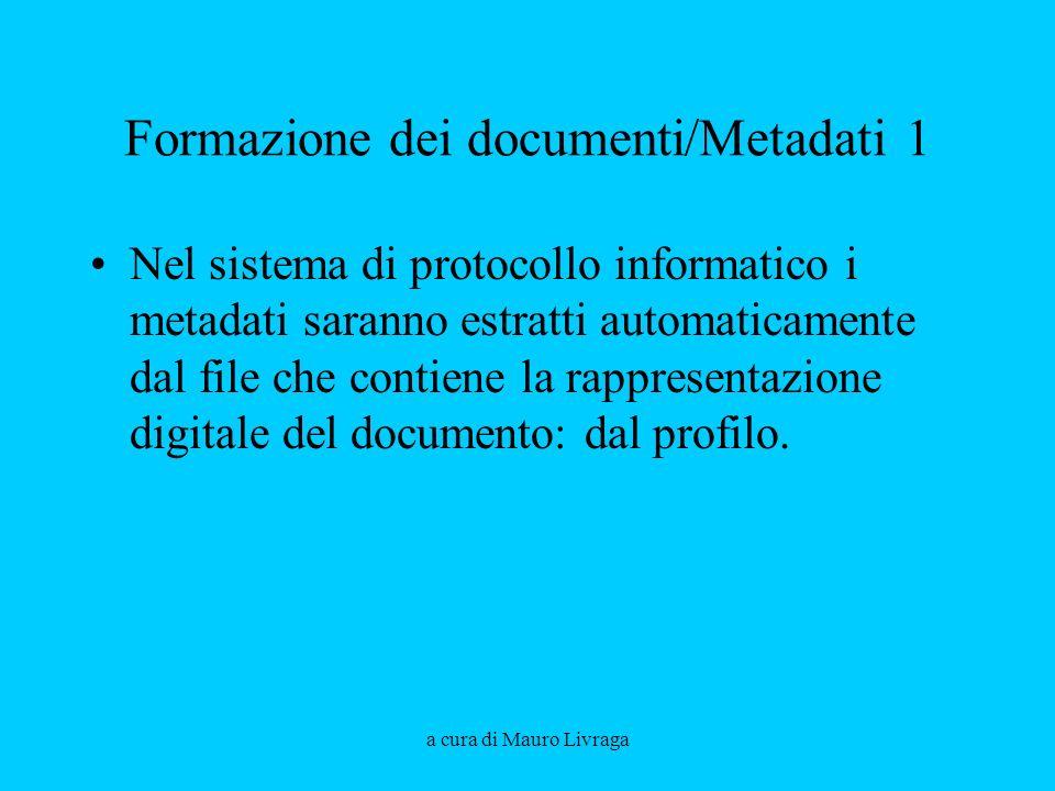 Formazione dei documenti/Metadati 1