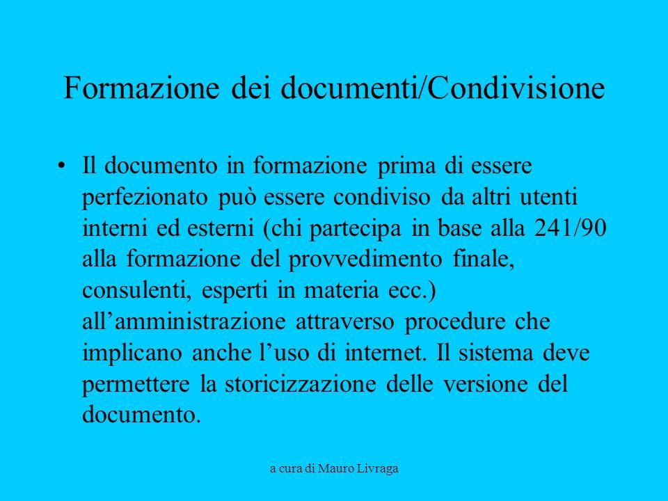 Formazione dei documenti/Condivisione