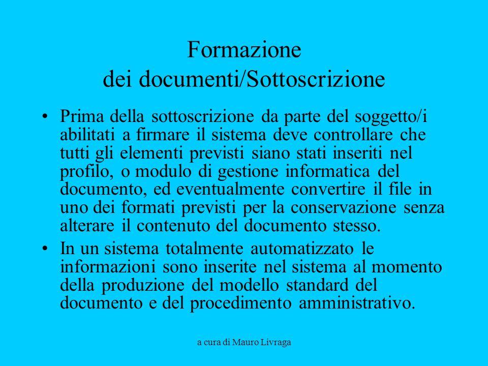 Formazione dei documenti/Sottoscrizione
