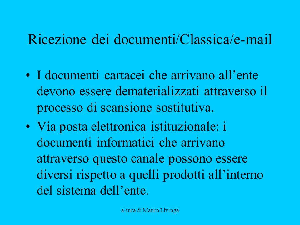 Ricezione dei documenti/Classica/e-mail