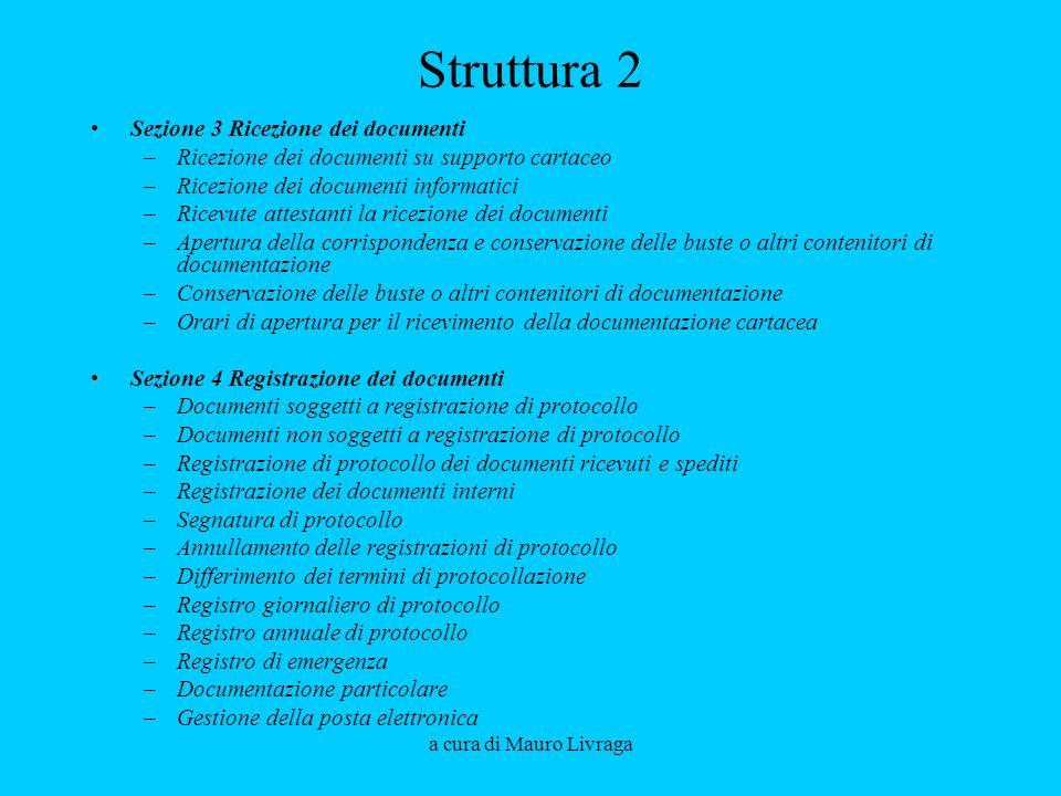 Struttura 2 Sezione 3 Ricezione dei documenti