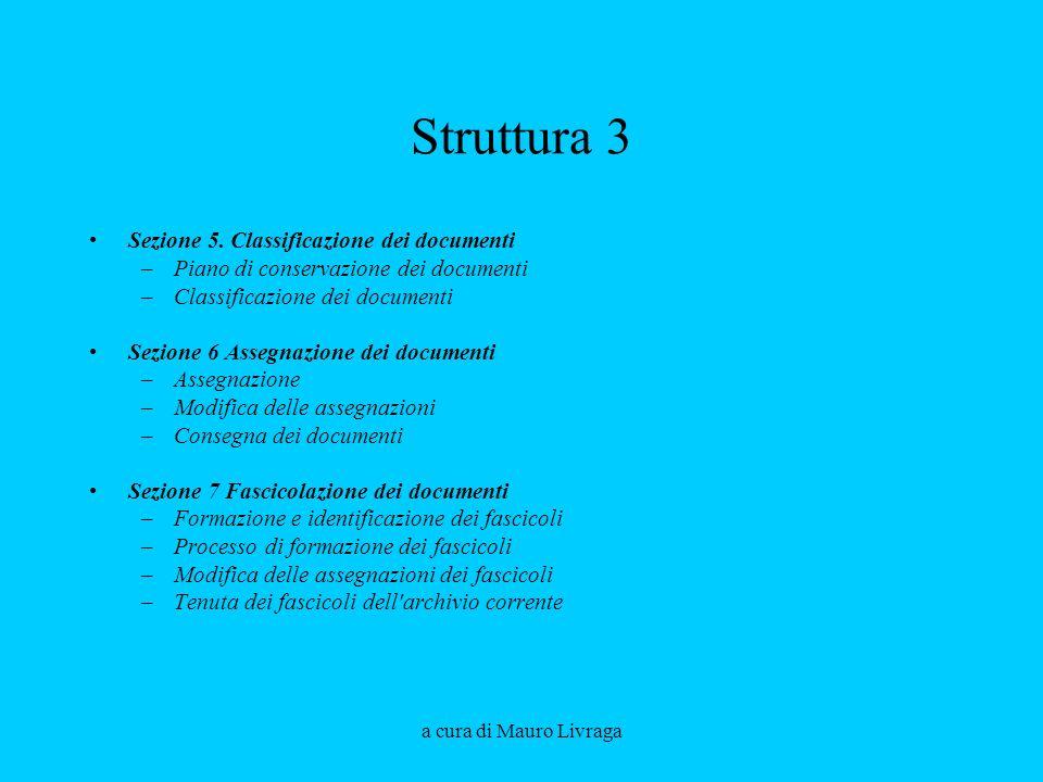 Struttura 3 Sezione 5. Classificazione dei documenti