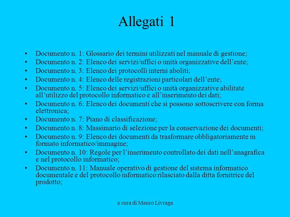 Aprile 2008 Allegati 1. Documento n. 1: Glossario dei termini utilizzati nel manuale di gestione;