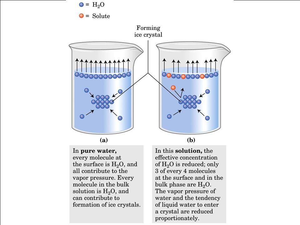 Effetto dei soluti sulle caratteristiche fisiche dell'acqua