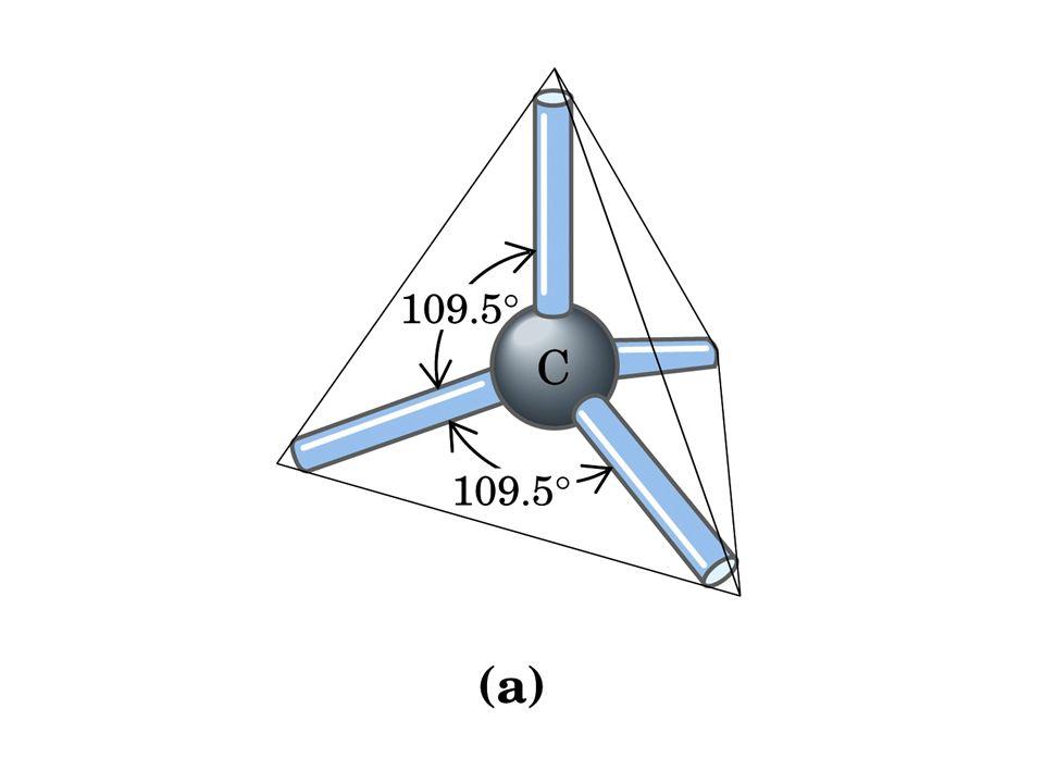 Sottolineare che le configurazioni spaziali sono sempre correlate al principio di massima distanza tra gli orbitali di legame