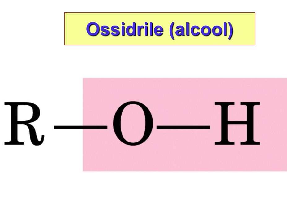 Ossidrile (alcool)