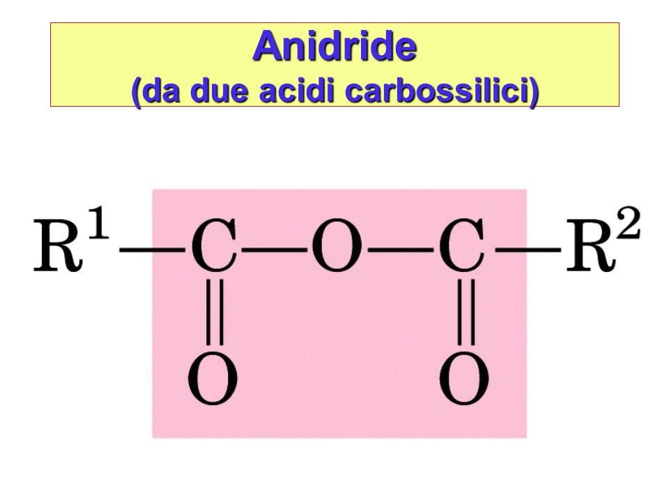 Anidride (da due acidi carbossilici)