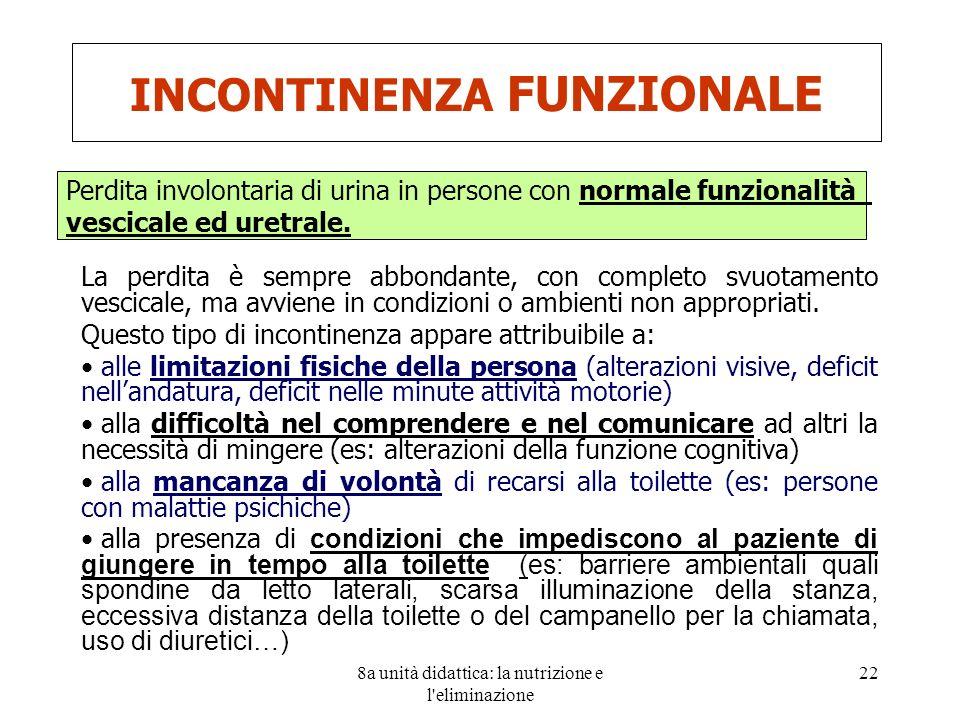 INCONTINENZA FUNZIONALE