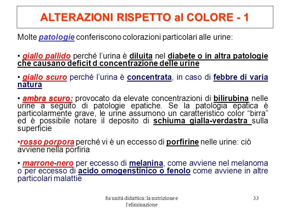 ALTERAZIONI RISPETTO al COLORE - 1