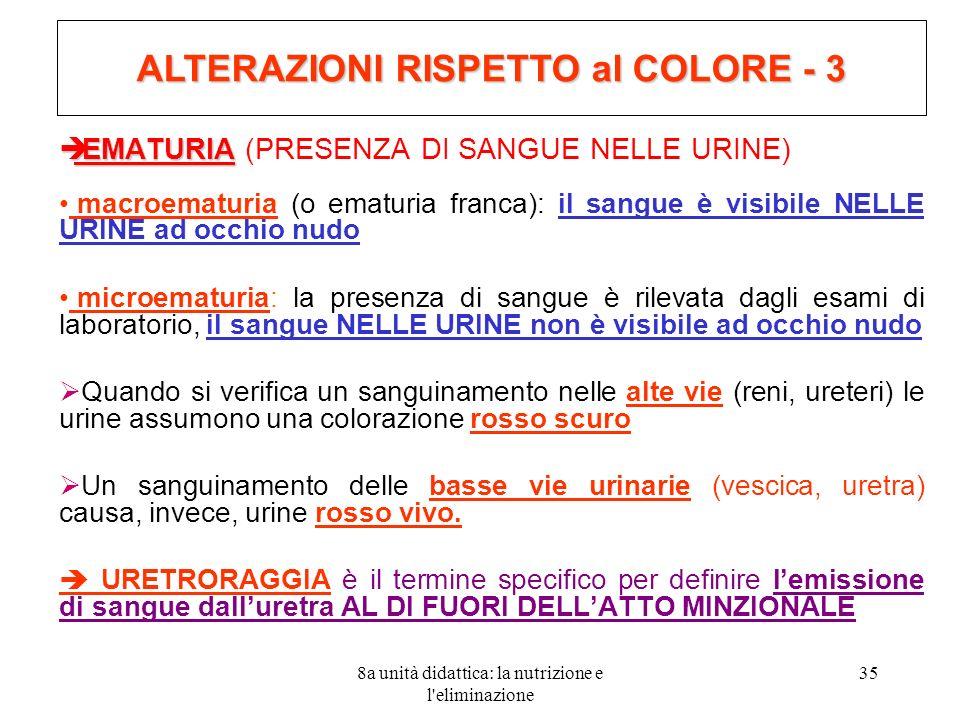 ALTERAZIONI RISPETTO al COLORE - 3
